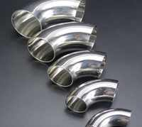 10Pieces/Lot Outer D:76mm Thickness:1.5mm  304 Stainless Steel Elbow 90 Degree Welding Sanitary