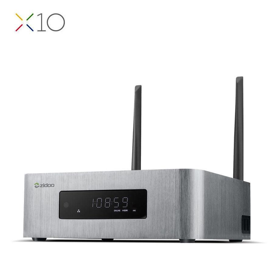 ZIDOO X10 Andoid 6,0 Smart ТВ Box Dual Системы 4 ядра 2 г/16 г Dual Band WI FI 1000 м LAN HDR USB 3,0 SATA 3,0 Media Player