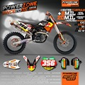 Customized Team Graphics & Backgrounds RB Custom Decals 3M Stickers Kits For KTM SX SXF  EXC XCW EXCF 125 150 250 300 450 530
