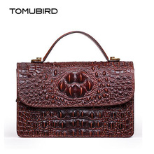 TOMUBIRD New women genuine leather bag brand Designers Crocodile Embossing cowhide leather women handbags shoulder bag