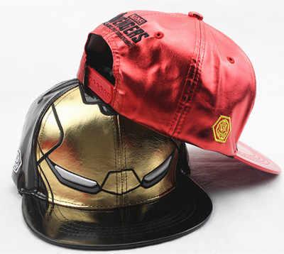 2d0c413cf9920 ... Kids   Adult Size Ironman Avengers Baseball Caps Iron Man Cartoon  Character Casual Hip-Hop ...