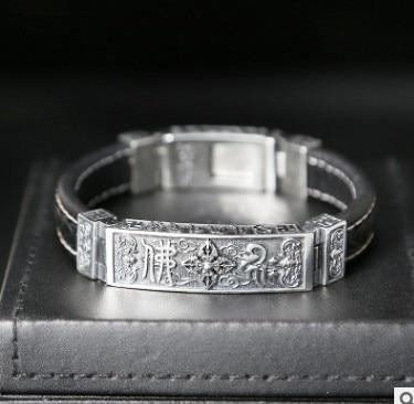 Bracelet homme cuir bracelet s bijoux homme bouddhisme 13mm