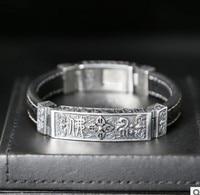 men bracelet leather bracelet s mens jewellery Buddhism 13mm