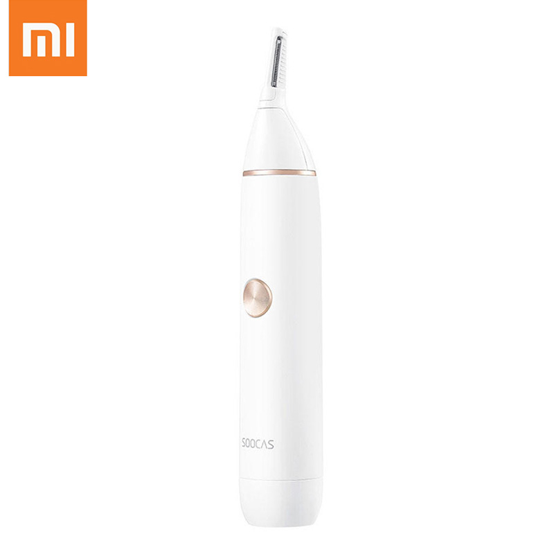 Xiaomi NI SOOCAS Portable Electric Nose Ear Trimmer Mijia Waterproof Ear Nose Eyebrow Hair Trimmer Personal Care From Youpin