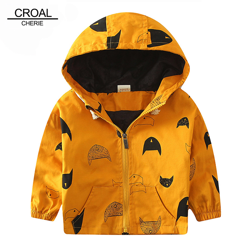 70 120cm Cute Printing Fish Kids Spring Jacket Boys