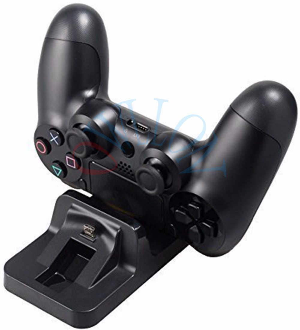 2019 USB Dual Dock di Ricarica Controller di Gioco di Ricarica Del Supporto Del Basamento Per Sony Play Station 4 PS4 Wireless Gamepad Controle Caricatore