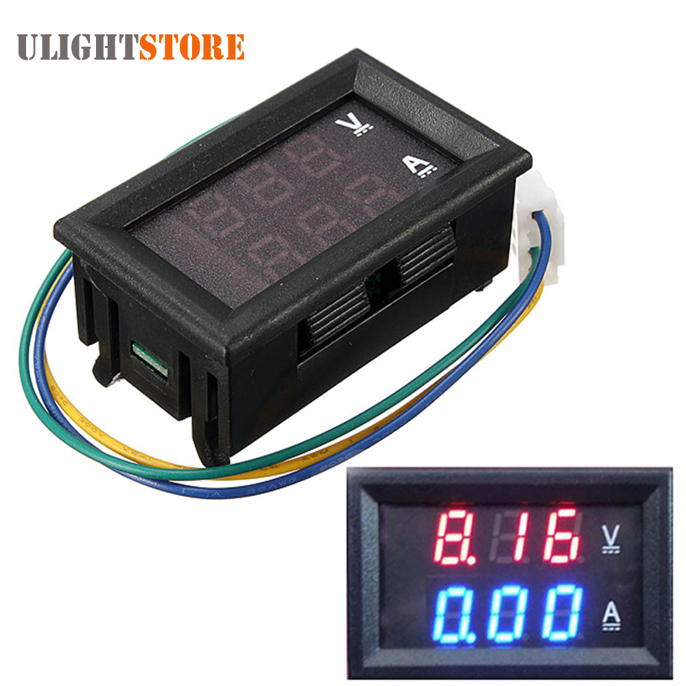 Voltage Meters Brilliant Dc 4.5-30v 0-50a Dual Led Display Digital Voltmeter Ammeter Volt Voltage Current Amp Power Meter Gauge Tester 12v Moderate Cost