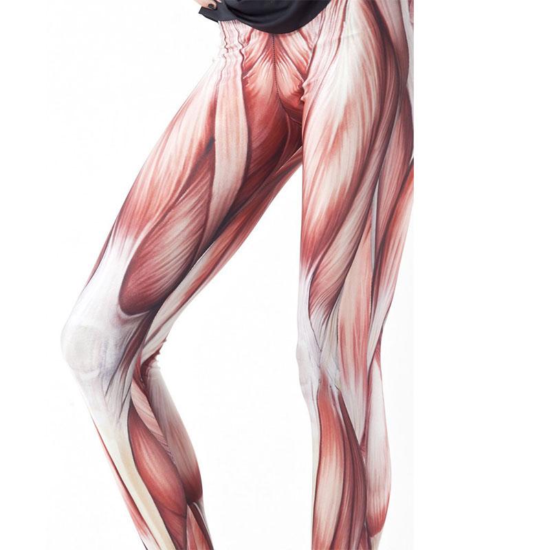 Fashion Muscles Patterned Women Leggings Sexy Girl's Tights Leg Elasticity Pants Leggings Print Gift Seamless Legging
