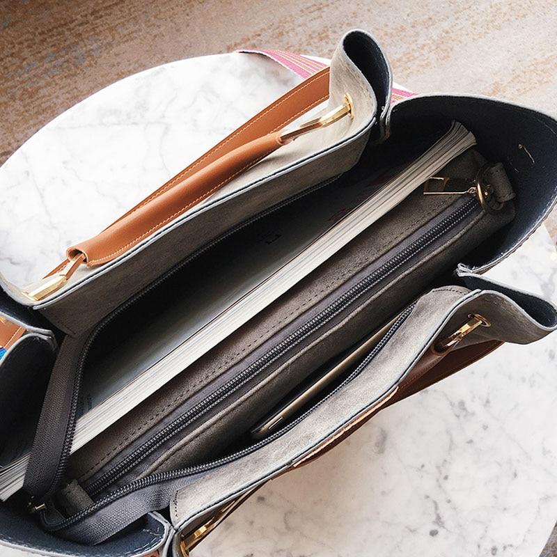 Kvinnor Läder Handväskor Stor Rem Metall Handtag Pu Läder Kvinnor - Handväskor - Foto 6