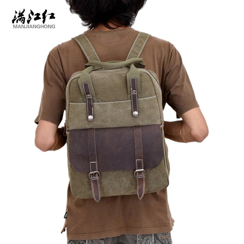 Canvas Unisex Shoulder Bags Patchwork Zipper Hasp Vintage Backpack Fashion Men Travel Bags School Bag men s canvas backpack 2016 vintage men patchwork double shoulder bag backpack schoolbag travel bags mochila for us