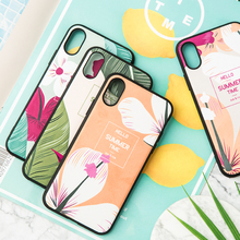 IMIDO Fabric Nordic Plant TPU Soft Silicone Cases For Huawei p20 pro p30 Cute Simple Anti-fall Lanyard Fashion Back Cover