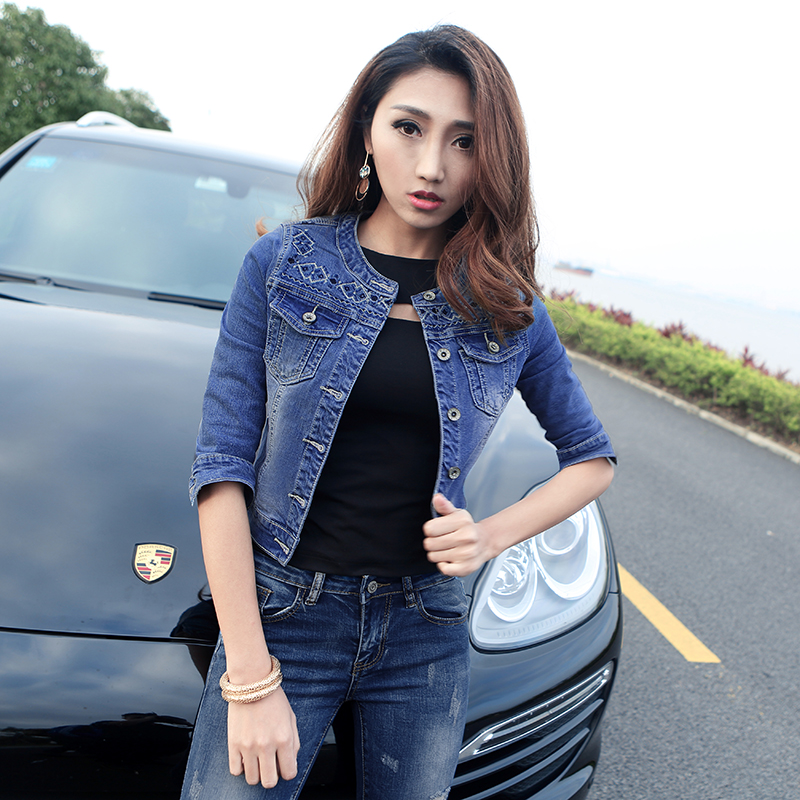 Half Sleeve Denim Jacket - Pl Jackets