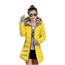 Последняя Зимняя Мода Женщины Вниз куртка С Капюшоном Утолщаются Супер теплый Средней Длины Пальто Тонкий Большой ярдов Хлопка мягкой одежды NZ355