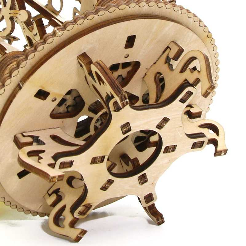 DIY Wooden Mechanical Transmission Woman Flower Gear Rotate Puzzle Ukraine UGEARS Model Valentine's Day Birthday Gift Grownups