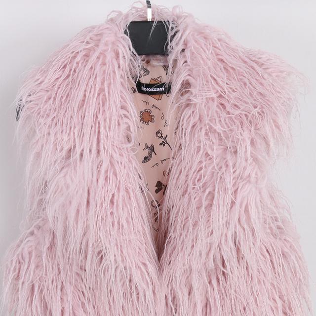 Nerazzurri Women faux fur vest plus size short pink autumn fake fur coat 2019 hairy large size Sleeveless jacket 5xl 6xl 7xl 8xl