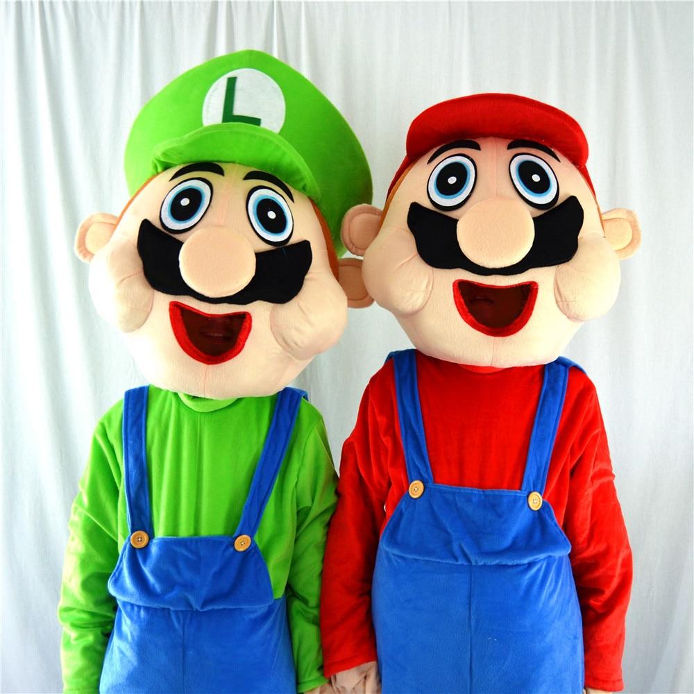 Hot Selling Adult Chiffon Cartoon Super Mario Characters Mascot
