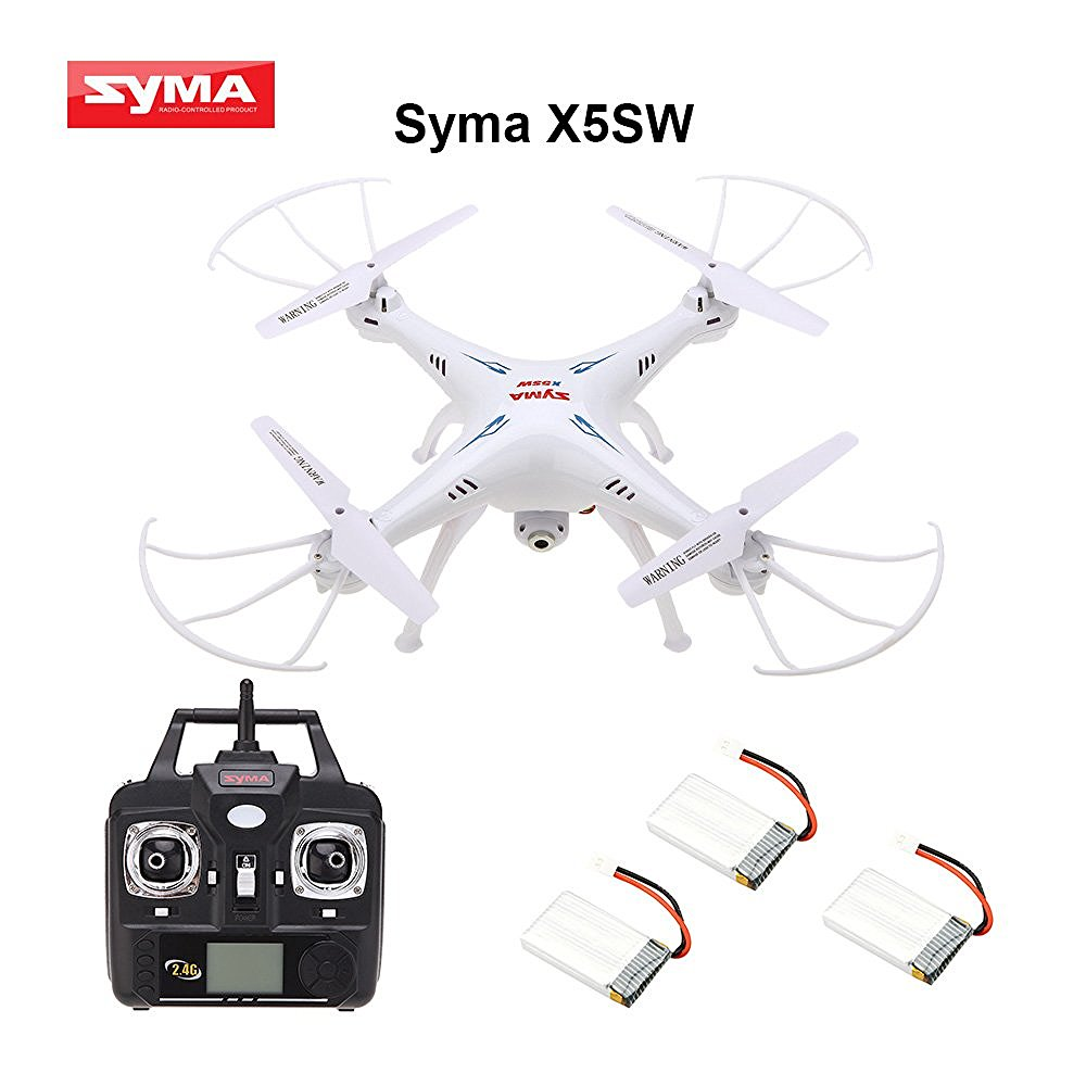 Syma X5SW / X5SW-1 4 Channel Remote Controlled Quadcopter with HD Camera for Real Time Video Transmission, 31 x 31 x 10.5cmSyma X5SW / X5SW-1 4 Channel Remote Controlled Quadcopter with HD Camera for Real Time Video Transmission, 31 x 31 x 10.5cm