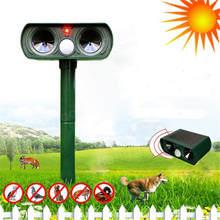 Ультразвуковой солнечной Мощность животных Отпугиватель инфракрасный Сенсор Кошка Собака Змея Крыса Отпугиватель Gard для умного дома VS Digoo