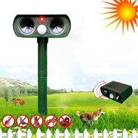 Ultrasonic Solar Power Animal Repeller Infrared Sensor Cat Dog Snake Rat Repeller Gard For Smart Home