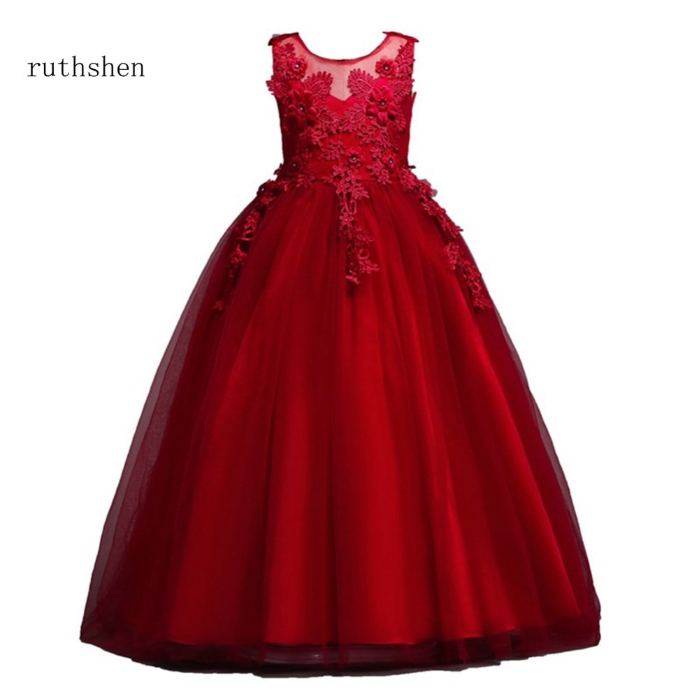 ruthshen Princess Baby Color Flower Girls Dresses For Weddings With ...