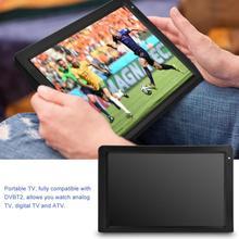लीडर पोर्टेबल डीवीबी-टी-टी 2 12.1 इंच रिचार्जेबल डिजिटल कलर टीवी टेलीविजन प्लेयर टीएफटी-एलईडी स्क्रीन
