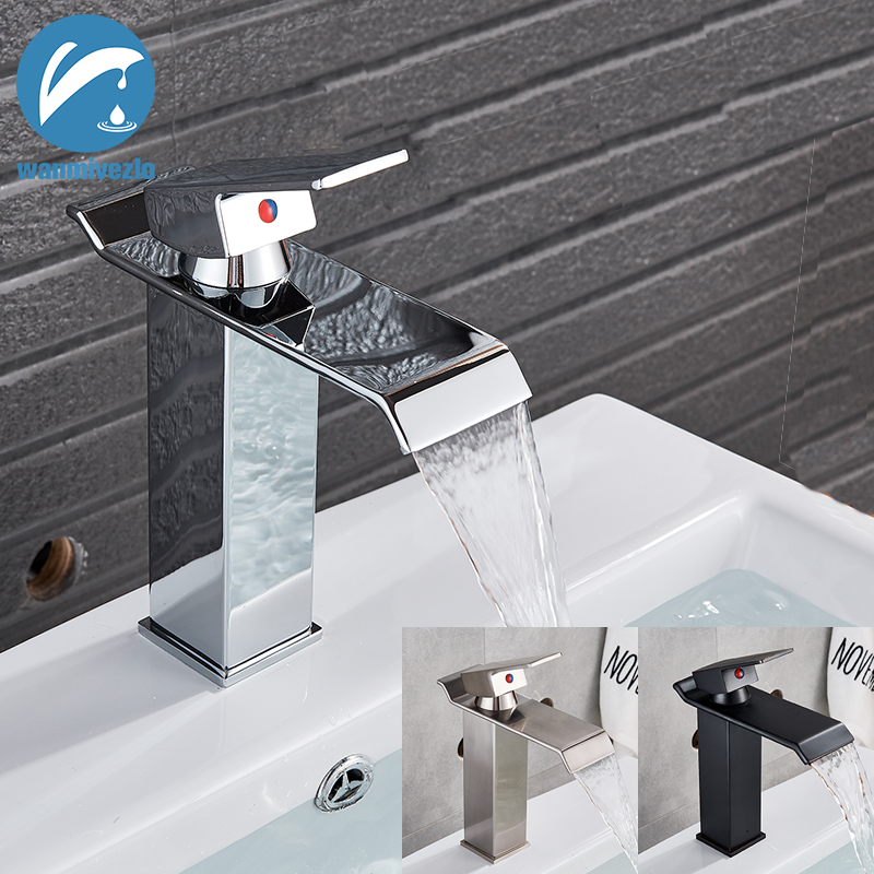 Bathroom Sink Faucet Deck Mounted Basin Mixer Faucets Hot Cold Water Faucet Single Handle Washing Vessel Sink Taps Torneira(China)