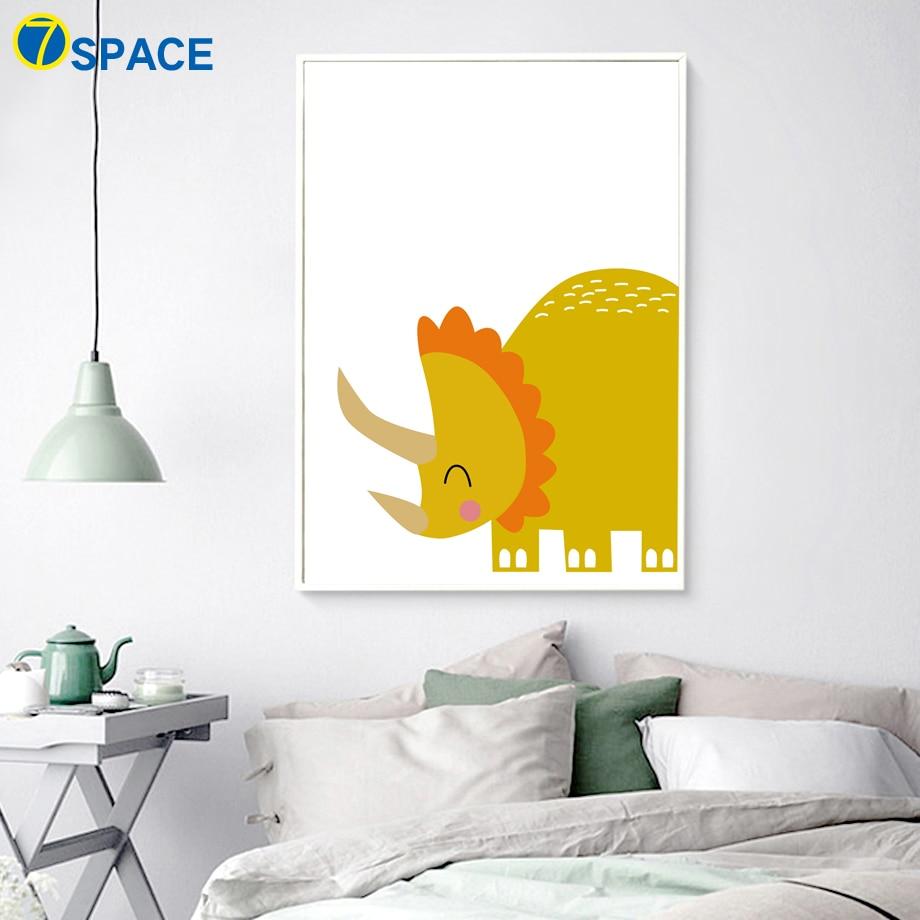 Alphabet Canvas Painting Dinosaur Crocodile Wall Art Print Nursery ...