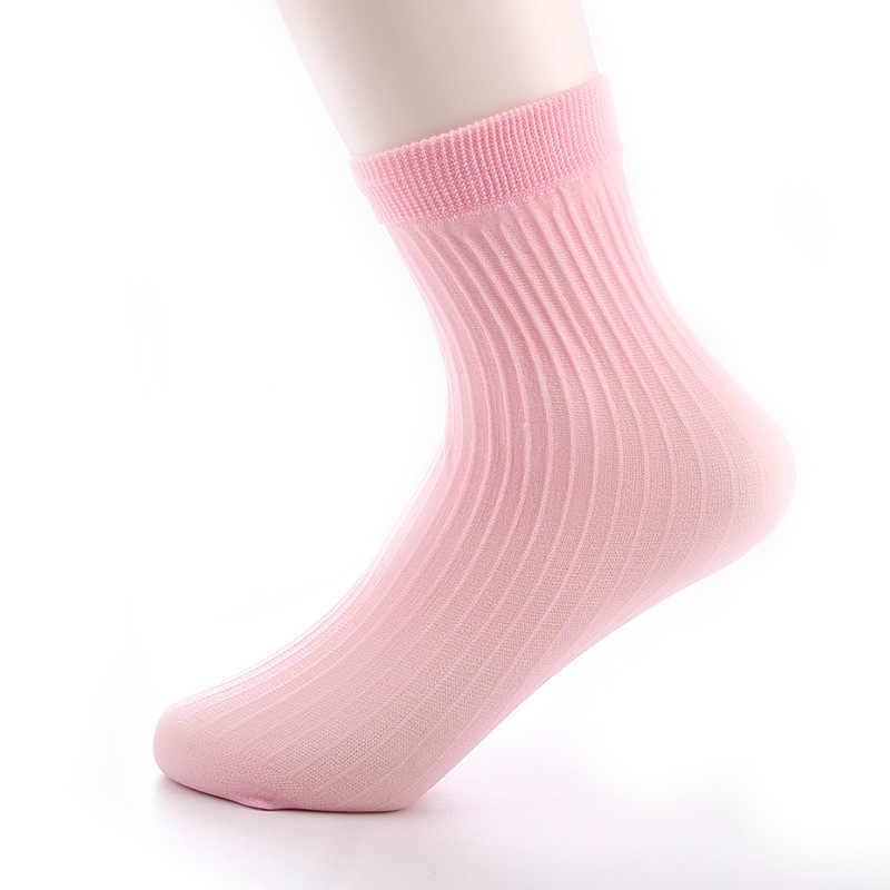Носки ярких цветов для мальчиков и девочек 6-16 лет Детские носки летние короткие носки для школьников