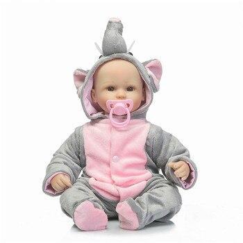 Appena nato 2017 bambole in silicone reborn baby lifelike vinile classico ragazze neonati realistico per il regalo del bambino di andare a dormire giocattolo del fumetto 1