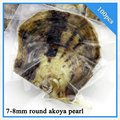 Interesting gift 100pcs 7-8mm round akoya pearl in oyster with vacuum-packed