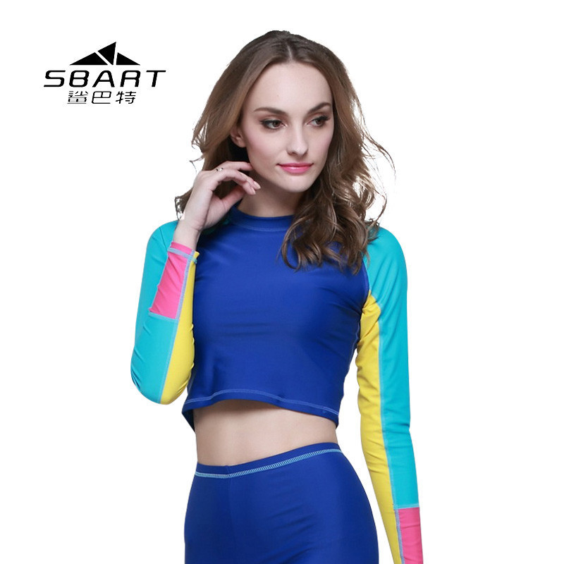 Water Sports Sbart Womens Rash Guards Scuba Snorkeling Diving Suits Wet Diving Surfing Jump Suit Rashgard Long Sleeve Lycra Top Upf50