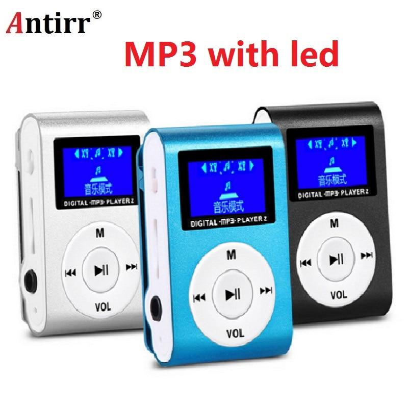 2019 Top SALE Fashion Mini Mp3 USB Clip MP3 Player LCD Screen Support 32GB Micro SD TF CardSlick Stylish Design Sport Compact