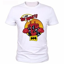 2016 Men Funny Superhero Printed T-shirts New Design Canada Deadpool T Shirt Brand Casual Style Short Sleeve Tshirts