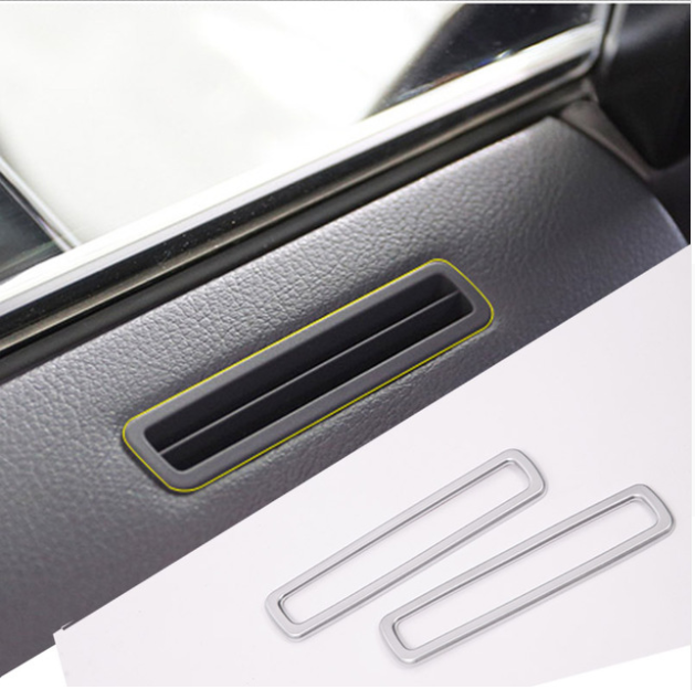 For <font><b>Lexus</b></font> <font><b>RX200t</b></font> 2016 Styling <font><b>Accessories</b></font> ABS Chrome Car Door Air Conditioning Outlet Vent Frame Trim Stickers image