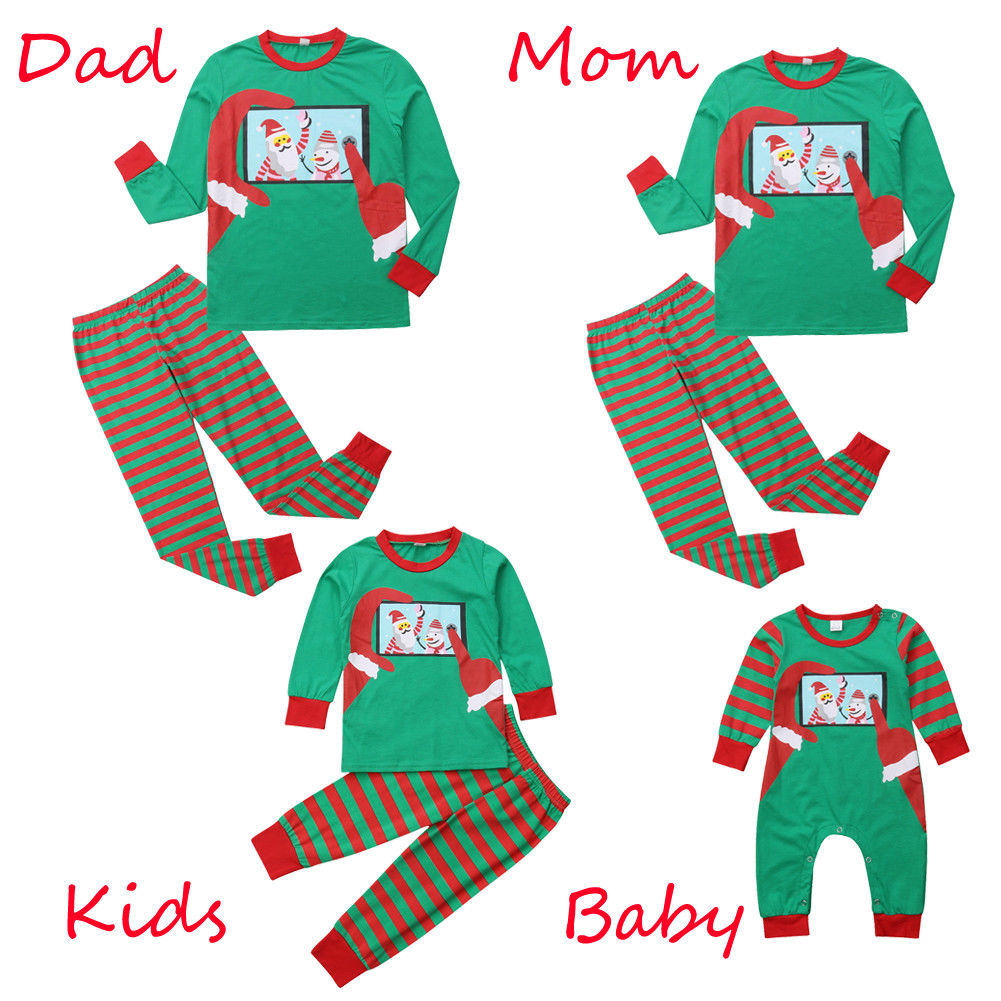 Hot Sale New Family Matching Outfits Clothes Sets Women Kids ...