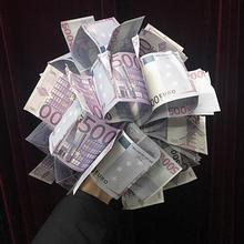 Spring Bills (100 Euro/500 Euro available,Large) Magic Tricks Stage Illusions Prop Accessories Fun Appear Bill Bouquet Magica