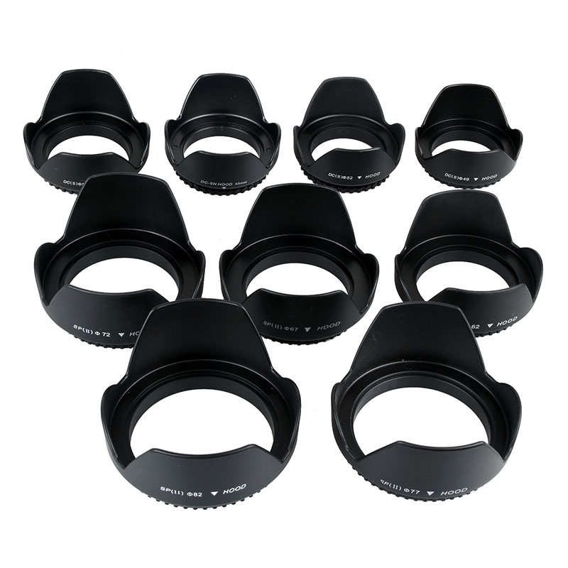 10 Pieces Camera <font><b>Lens</b></font> <font><b>Hood</b></font> 49/52/55/<font><b>58</b></font>/62/67/72/77/82mm Thread Mount for Canon Nikon Sony Pentax Tamron Sigma <font><b>Lens</b></font> image
