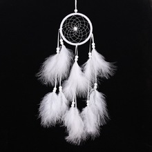 Wind Chimes Handmade Indian Dream Catcher Net With Feathers 55 cm Wall Hanging Dreamcatcher Craft Gift Home Decoration цена 2017