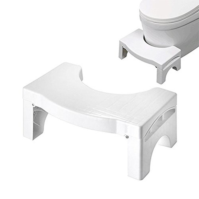 New Qualified Squatty Bathroom Folding Portable Stool Toilet Stool Step Footstool Piles Relief Aid Safety Folding Stool D48Au9