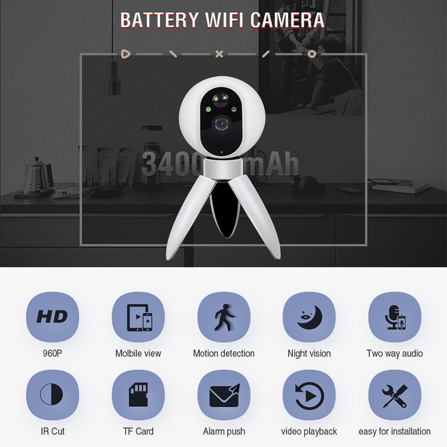 IMIEYE 960 1080P Full HD CCTV IP Wifi Wireless Security Battery Camera Surveillance video WI-FI Night Vision Baby Monitor Camera smarsecur wire free ip camera 720p hd no wire 6400mah 8 months battery security wifi wireless ip camera with battery