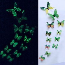Decal Stickers Stars Home-Decor Glowing Shine Butterfly In-The-Dark Luminous Magnetic