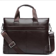 New Arrival Fashion Black Briefcase Men's Business Briefcase Pu Leather High Quality  Laptop Messenger Bag