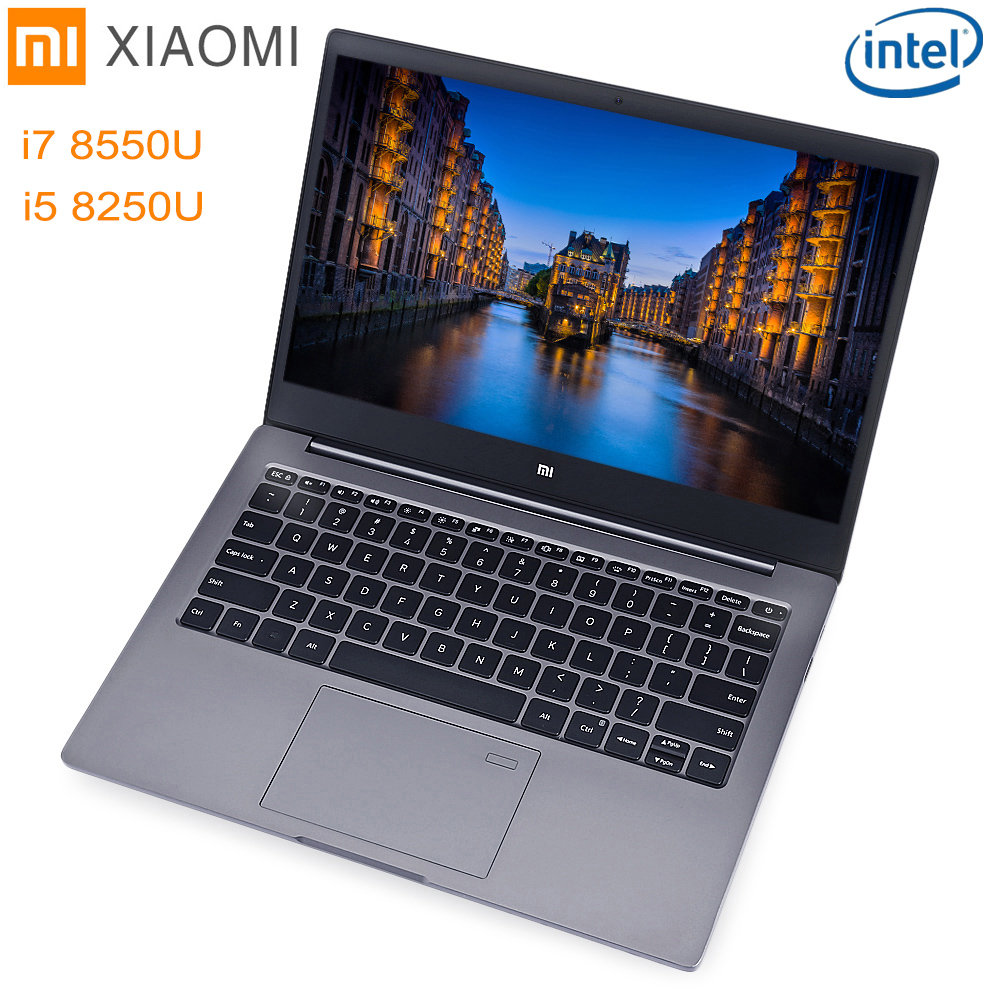 Xiaomi Mi Тетрадь Air 13,3 Windows 10 Intel Core I5/I7 4 ядра 8 ГБ + 256 ГБ SSD отпечатков пальцев двойной wi Fi Ultrabook Ga mi нг ноутбука