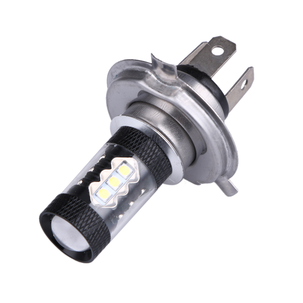 2Pcs High Power Automotives Fog Lamp Bulb H4 80W Car-styling Led Driving/Tail/Signal/Steering/Brake/Parking DRL for Auto 12V h1 super bright white high power 10 smd 5630 auto led car fog signal turn light driving drl bulb lamp 12v