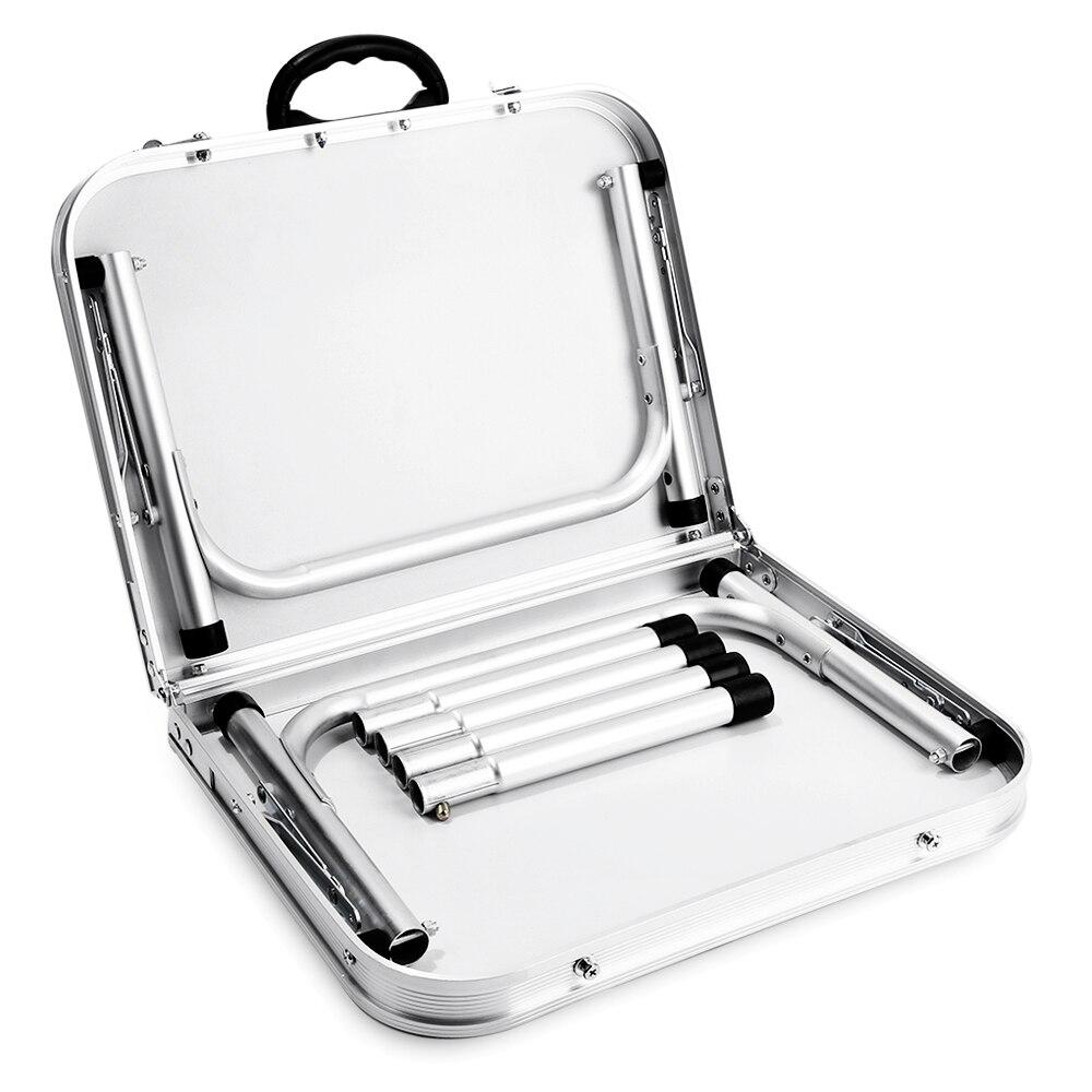 Table pliante en aluminium bureau de lit d'ordinateur Portable Tables extérieures réglables BBQ Portable léger Simple imperméable à la pluie pour pique-nique Camping - 5