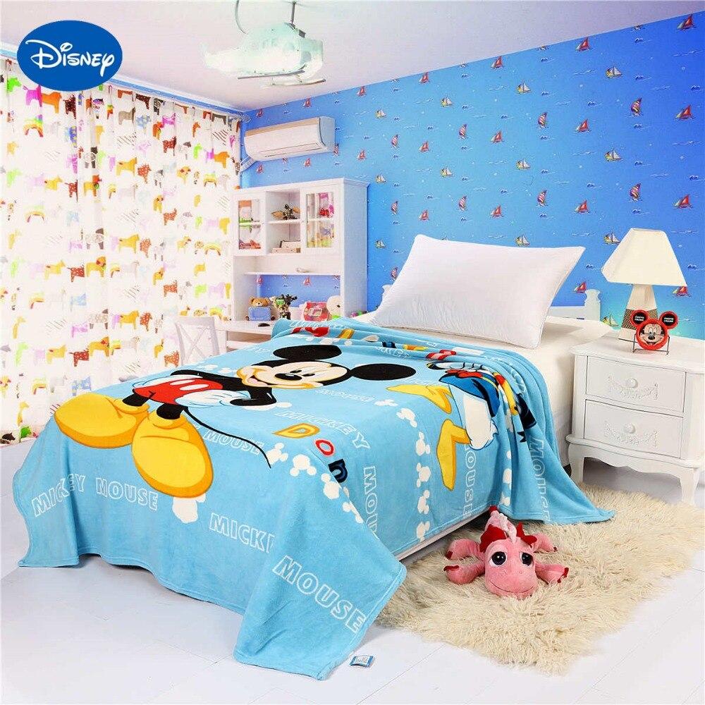 inteligente de disney mickey mouse impreso mantas cm cama nios dormitorio decoracin de