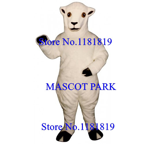 MASCOT White Ewe Mascot Sheep Costume Adult Size High Quality Fur Ewe Lamb Theme Anime Cosplay Costume Fancy Dress Mascotte