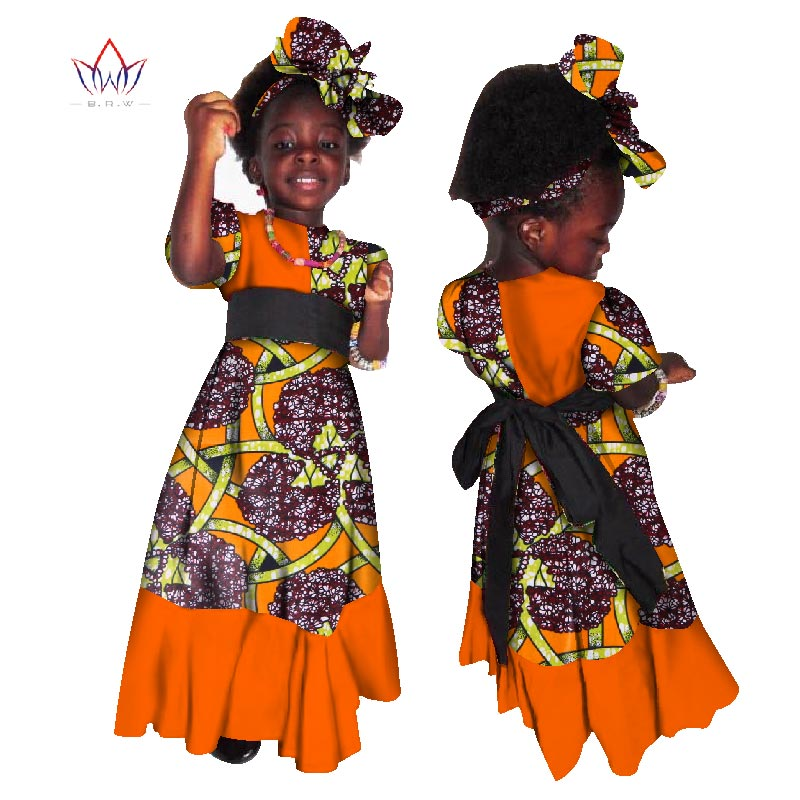 197cd0371fc03 US $49.99 |2019 African Women Clothing kids dashiki Traditional cotton  Dresses Matching Africa Print Dresses Children Spring BRW WYT39-in Africa  ...