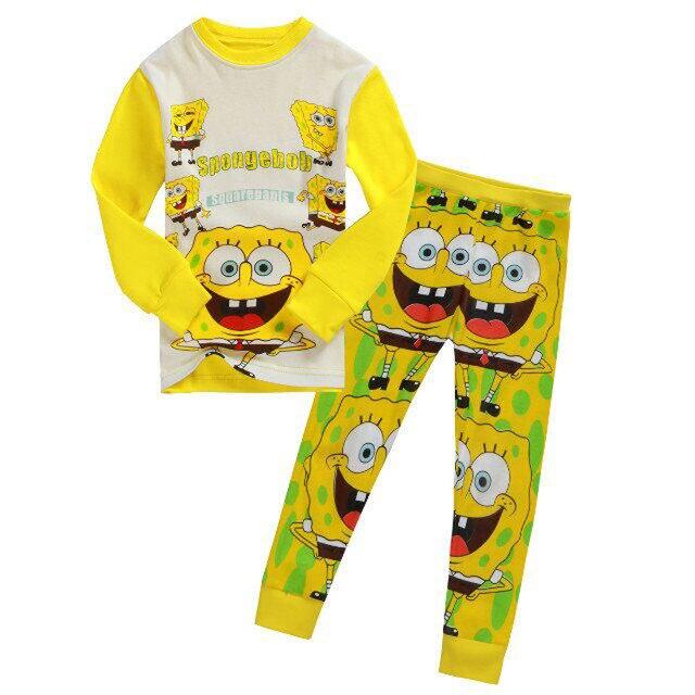 fashion spongebob kid pajamas set fashion winter child pajamas