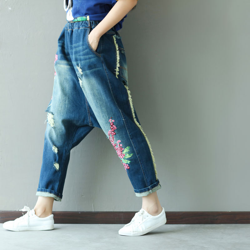 Plus Size Harem Pants Women Casual Trousers Cotton 2019 Autumn Winter Ankle length Pants High Waist